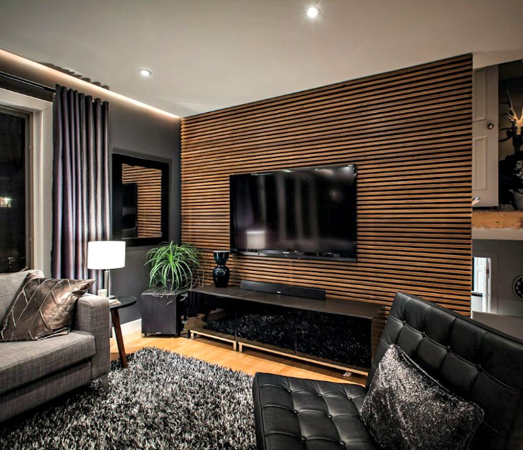 Living Room Wooden Cladding