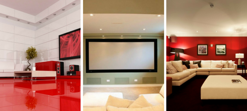 Minimal Home Theater Room